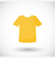 t-shirt flat icon vector image