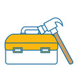 tool box with hammer vector image