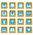 underwear types icons set sapphirine square vector image vector image