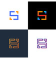 unusual geometric letter s architecture logo vector image