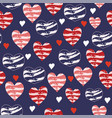 valentine navy and red love hearts vector image