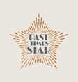 vintage abstract label with sunburst and title vector image vector image
