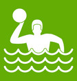 water polo icon green vector image vector image