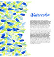 watercolor background with colorful spots vector image vector image