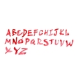 watercolour alphabet vector image