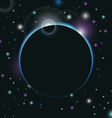 space background with light - vector image