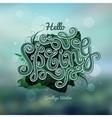blurred background Spring hand lettering vector image