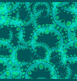 abstract azure seamless pattern of gears and vector image vector image