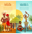 African Tribal Life Vertical Flat Banners vector image vector image