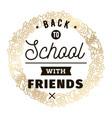 Back to school typographic labels set