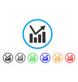 bar chart trend rounded icon vector image vector image