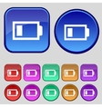 Battery low level sign icon Electricity symbol Set vector image