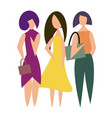 beautiful modern girls in vector image