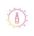 beer bottle line icon pub craft beer sign vector image