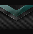black carbon fiber background with corner vector image