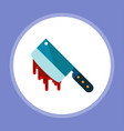 bloody cleaver flat vector image