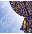 blue drape vector image vector image