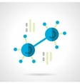 Blue molecule flat color icon vector image