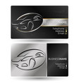 business card for the car company vector image vector image