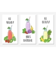 Cards with the image of bottles smoothies and vector image vector image