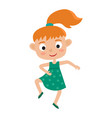 cartoon of little redhaired vector image vector image