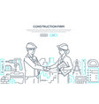 construction firm - modern line design style vector image vector image