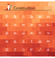 Construction Line Icons vector image vector image
