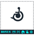 disabled icon flat vector image vector image