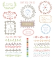 Doodles Hand drawn line border with logoframes vector image vector image