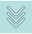 download arrow design vector image vector image