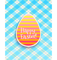 Easter card egg blue vector image vector image