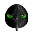 fan and green eyes vector image vector image