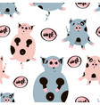 fat cute pig seamless pattern vector image vector image