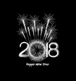 fireworks for new year 2018 vector image
