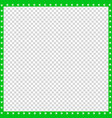 green and white square border made of animal paws vector image vector image