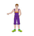 guy in shorts vector image vector image