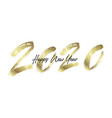 happy new year 2020 with golden glitter vector image vector image