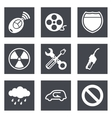 icons for web design set 37 vector image