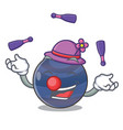 juggling picture neptune planet in cartoon form vector image vector image