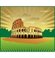 landscape with Roman Colosseum vector image vector image