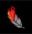 modern phoenix fire bird feather vector image vector image