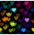 Multicolored heart isolated on black background vector image vector image