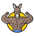 Muscle horse gym symbol vector image