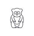 panda bear line icon concept panda bear vector image