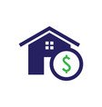 purchase home icon vector image vector image