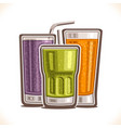 refreshing drinks vector image