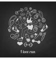 run set vector image vector image