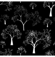seamless pattern tree silhouettes vector image