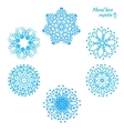 Set of laced snowflakes vector image vector image
