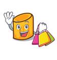 shopping rigatoni character cartoon style vector image vector image